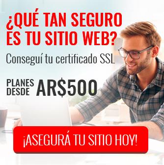 Conseguí tu certificado SSL ¡Asegurá tu sitio hoy!